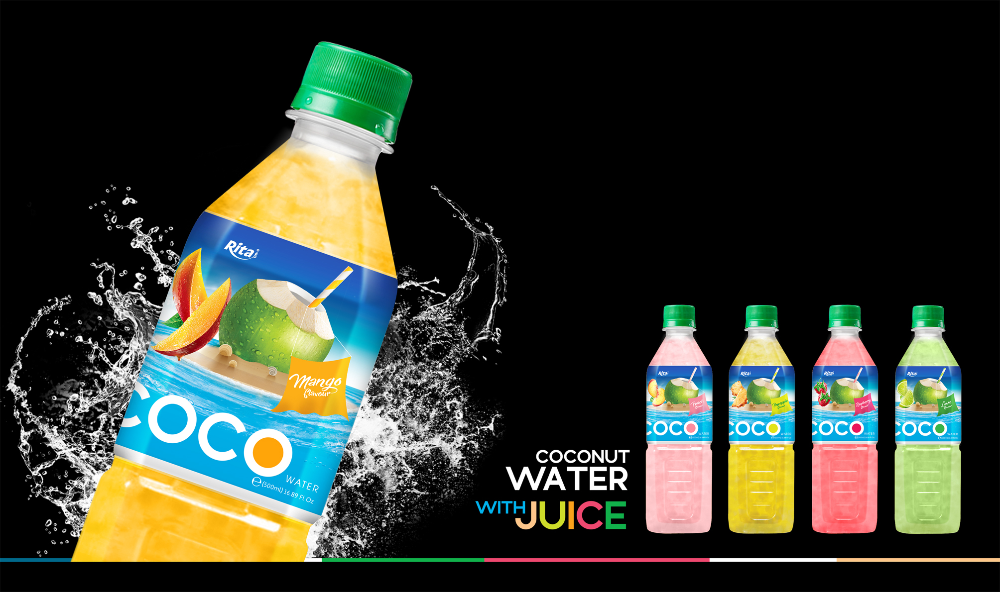 healthy juices Coconut water with strawberry flavor