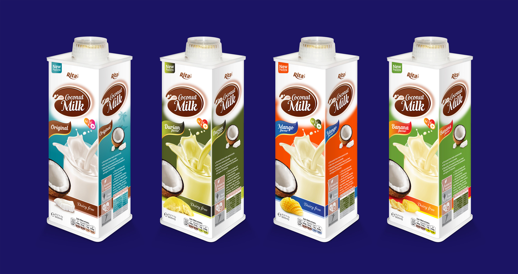 Real fruit juice Coconut milk durian