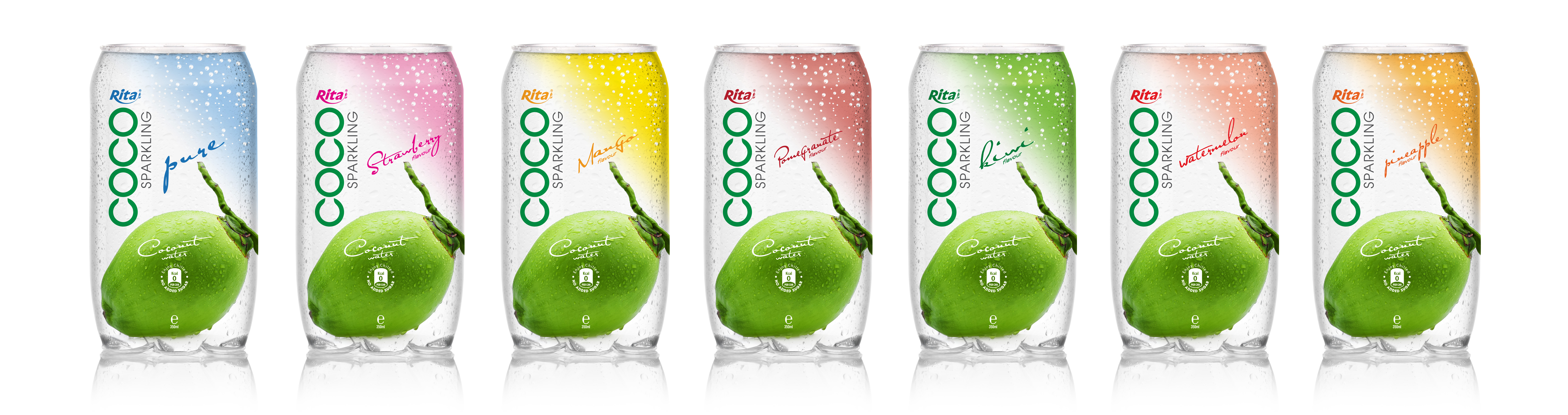 350ml  Pet bottle  Sparking coconut water  with strawberry juice