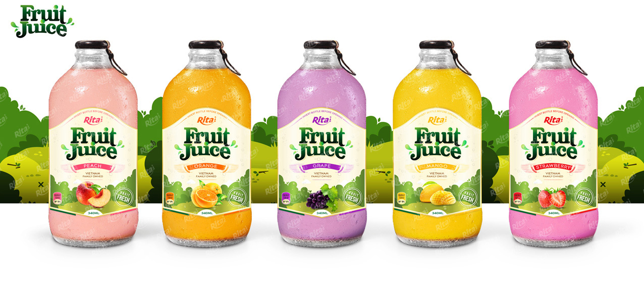 Peach fruit juice 340ml custom beverage development