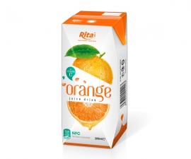 Private label fruit orange juice in Aseptic