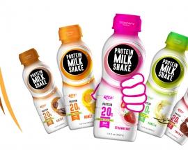 Juice bottles  Protein milk shake with cofee