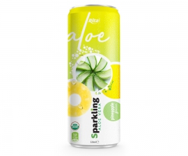 Private label brand Sparkling aloe vera pinapple 320ml