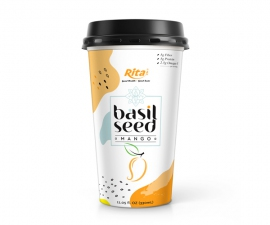 PP cup 330ml Basil seed with mango juice