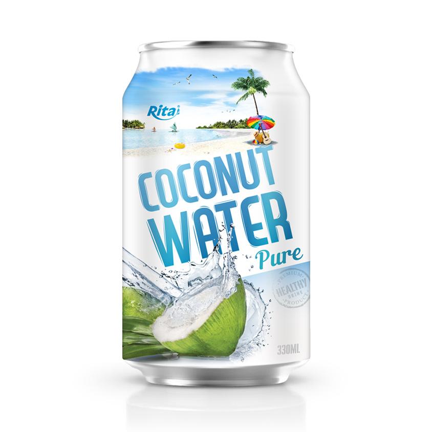 Supplier Coconut water 330 ml Alu Can Rita Brand