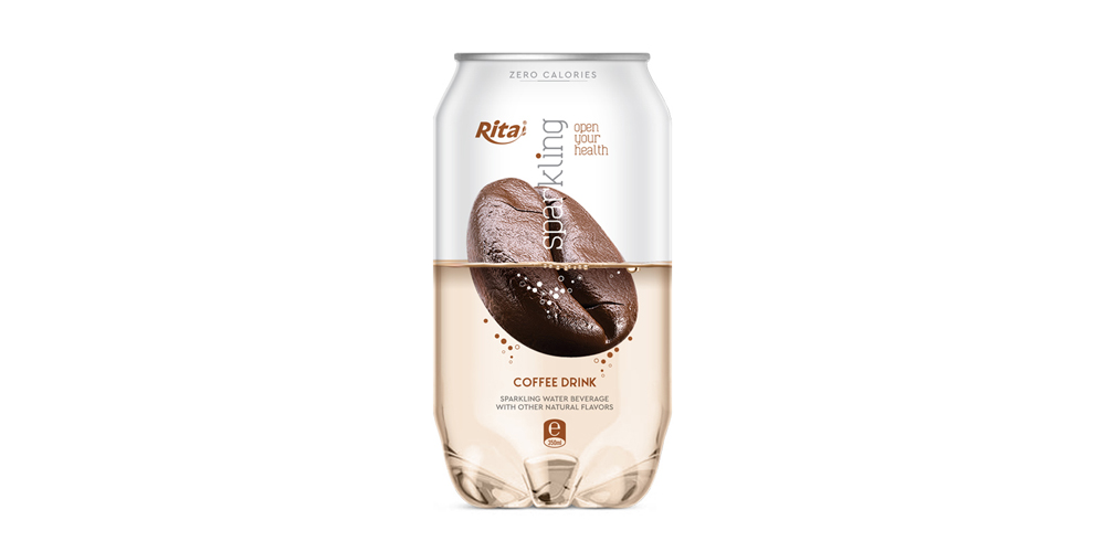 Pet can 350ml Sparkling drink with coffee flavor