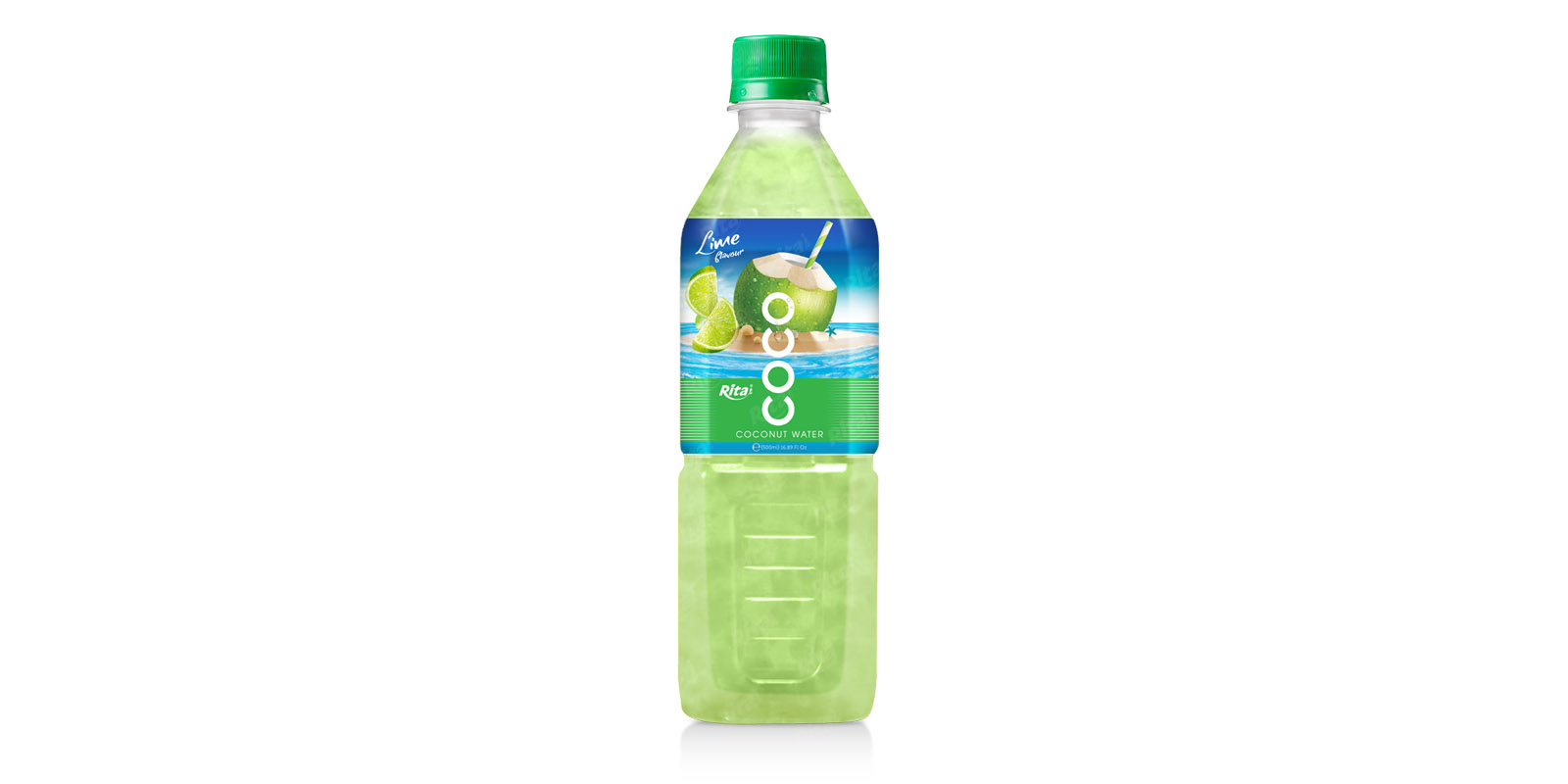 Coconut water with lime flavor