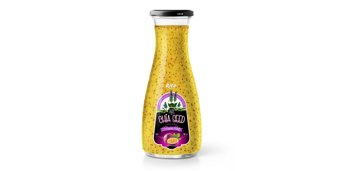 Wholesale glass Chia Seed drink plus passion flavour 1L from Juice