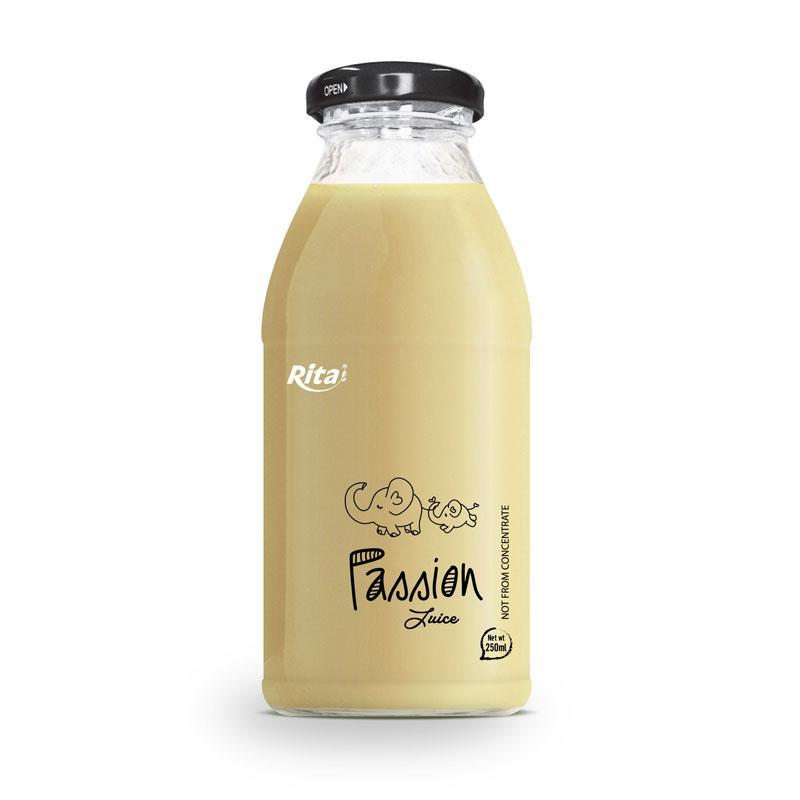 RITA BEVERAGE PASSION FRUIT JUICE DRINK 250ML GLASS BOTTLE