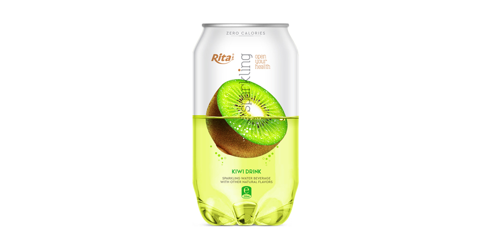 Pet can 350ml Sparkling drink with kiwi flavor