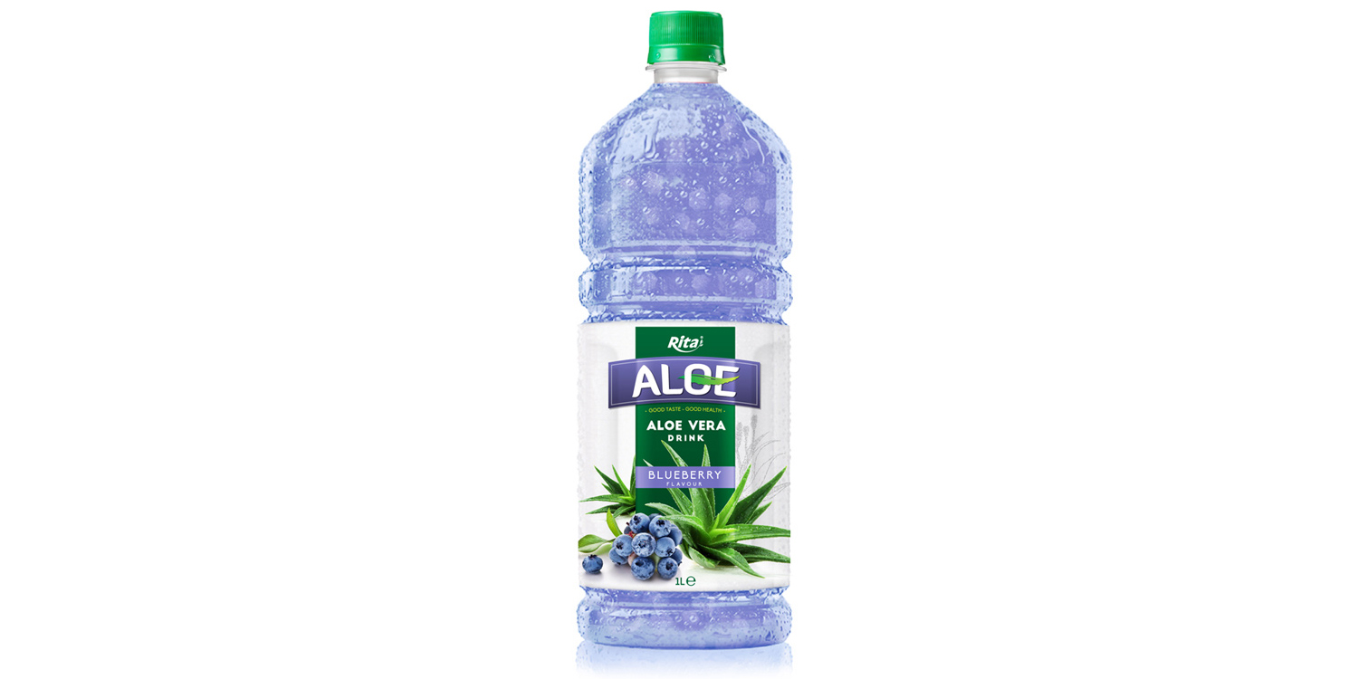 aloe vera with blueberry  1L Pet bottle