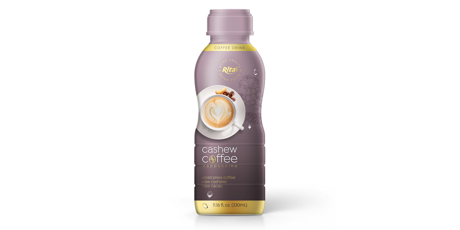Wholesale beverage Cashew Coffee 330ml in  PP Bottle